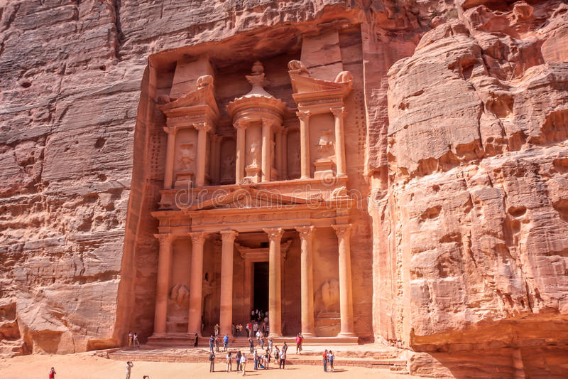 Petra Jordan Temple fotografia stock