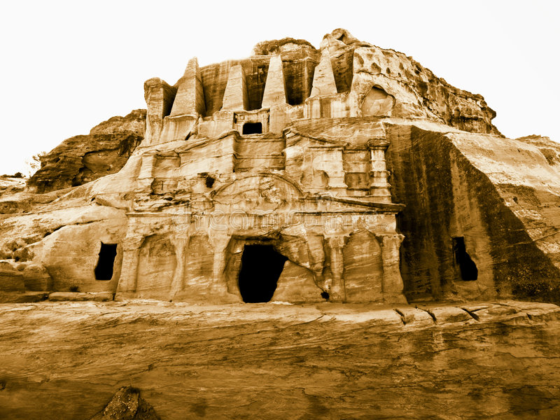 Download Petra in Jordan - tombs stock photo. Image of earth, jordan - 4016520
