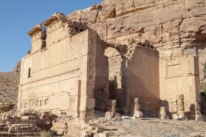 Petra, Jordan Travel, Ruïnes, Midden-Oosten royalty-vrije stock foto's