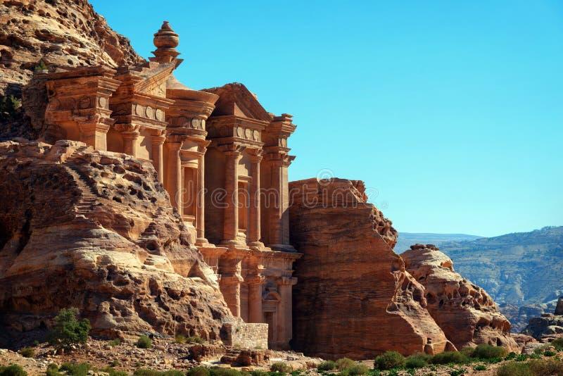 Petra Jordanië royalty-vrije stock afbeelding