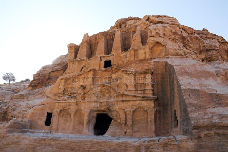 Petra in Jordanië royalty-vrije stock afbeelding