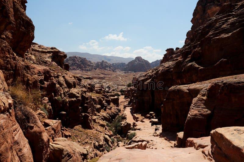 Petra in Jordanië stock foto
