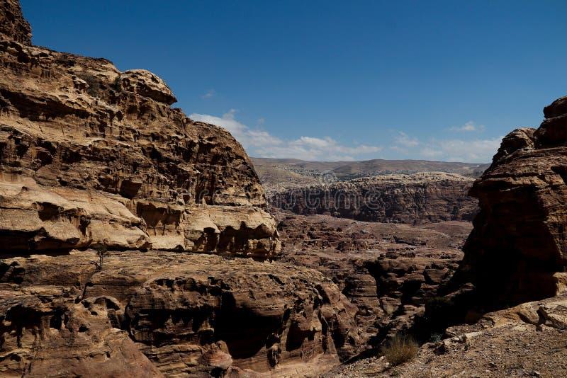 Petra in Jordanië stock fotografie