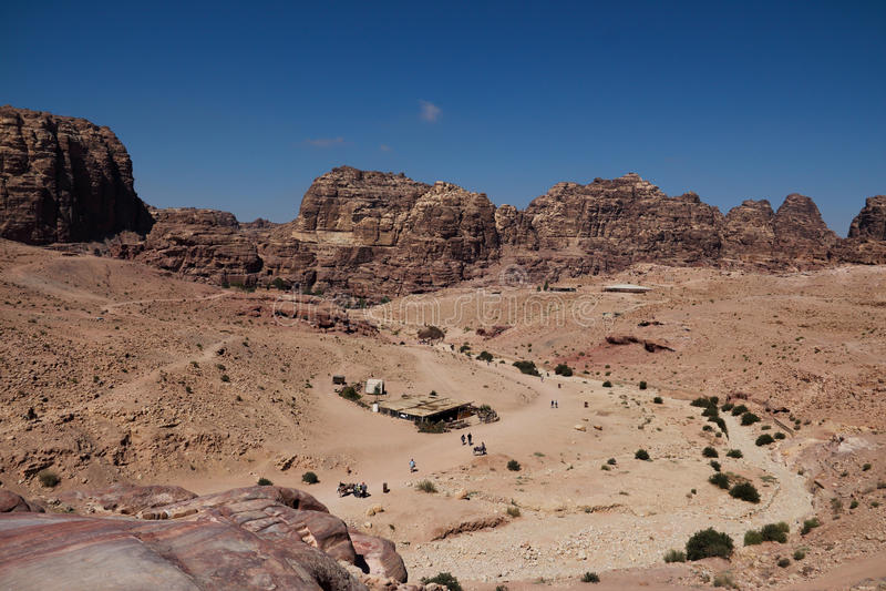 Petra in Jordanië royalty-vrije stock foto