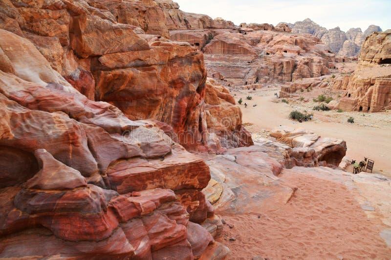 Petra - Jordania fotografía de archivo libre de regalías
