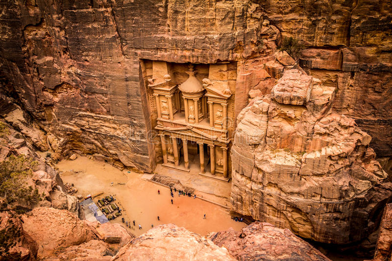 PETRA Jordanie images libres de droits