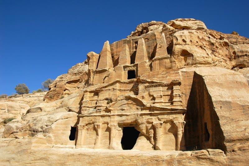PETRA in Jordanien stockfotos