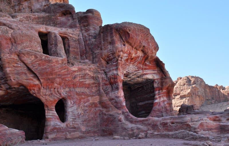 Petra-Jordanien royaltyfria bilder