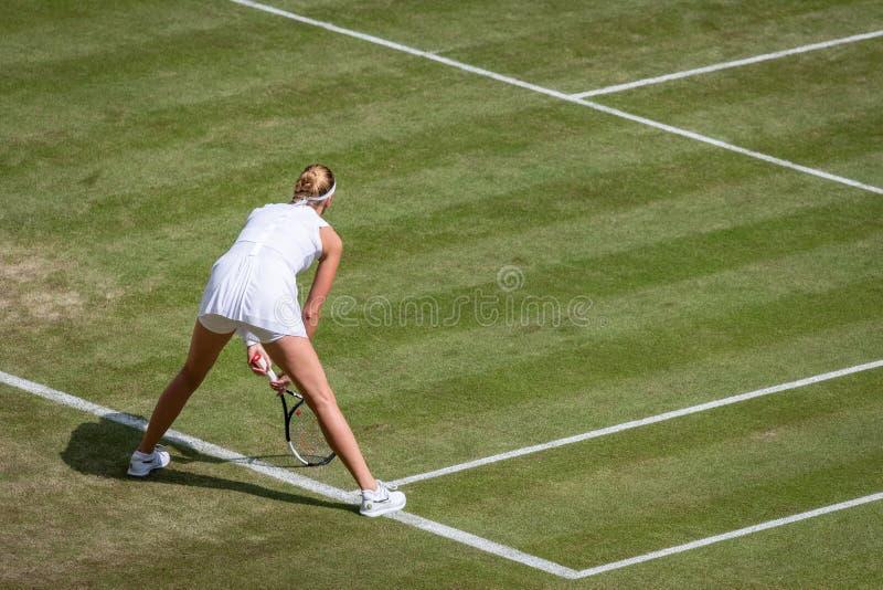 Petra Kvitova på Wimbledon royaltyfri bild
