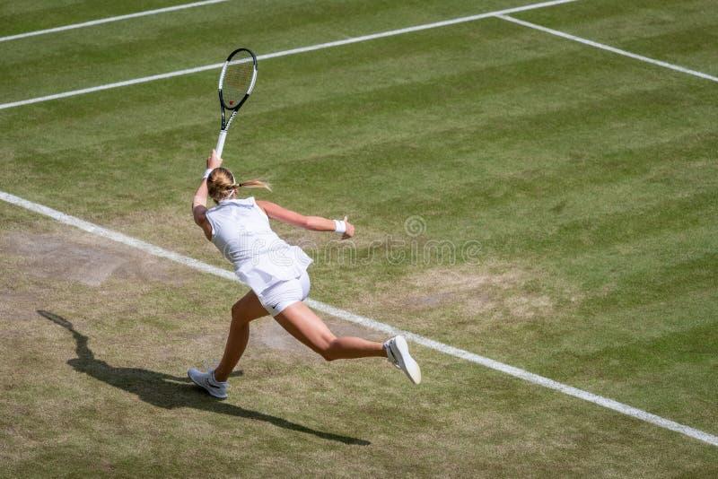 Petra Kvitova på Wimbledon arkivfoto