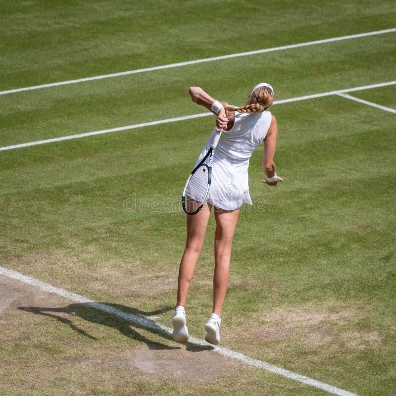 Petra Kvitova på Wimbledon fotografering för bildbyråer