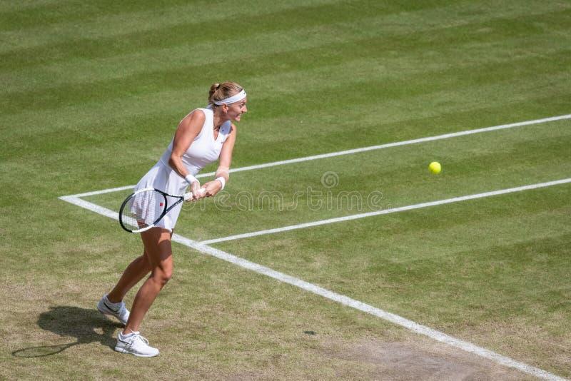 Petra Kvitova på Wimbledon arkivfoton