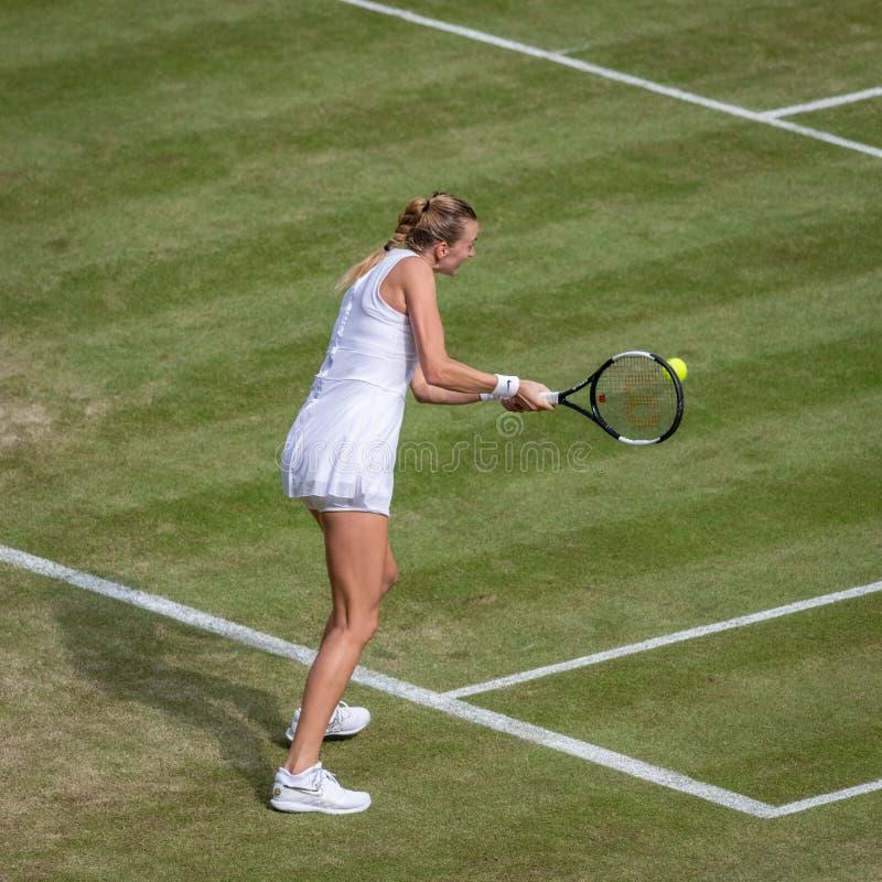 Petra Kvitova przy Wimbledon obrazy royalty free