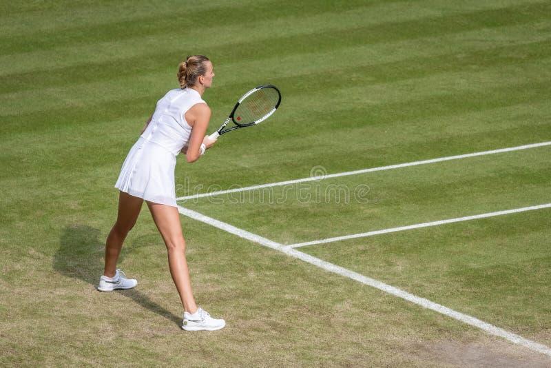 Petra Kvitova przy Wimbledon zdjęcie stock