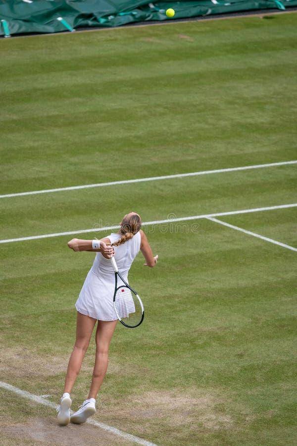 Petra Kvitova przy Wimbledon obraz royalty free