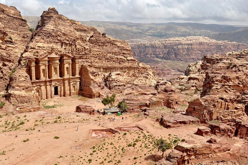 Petra, the Lost city in southern Jordan. royalty free stock photography