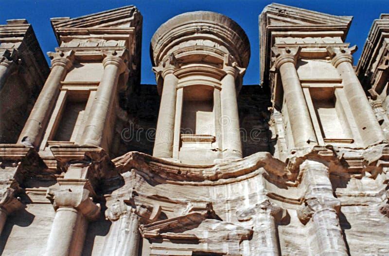 Petra monaster Jordan fotografia royalty free