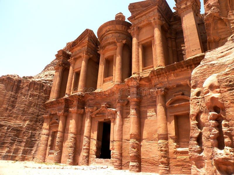 Petra Monastery imagenes de archivo