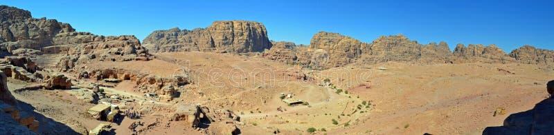 Petra Panoramic royalty free stock photo