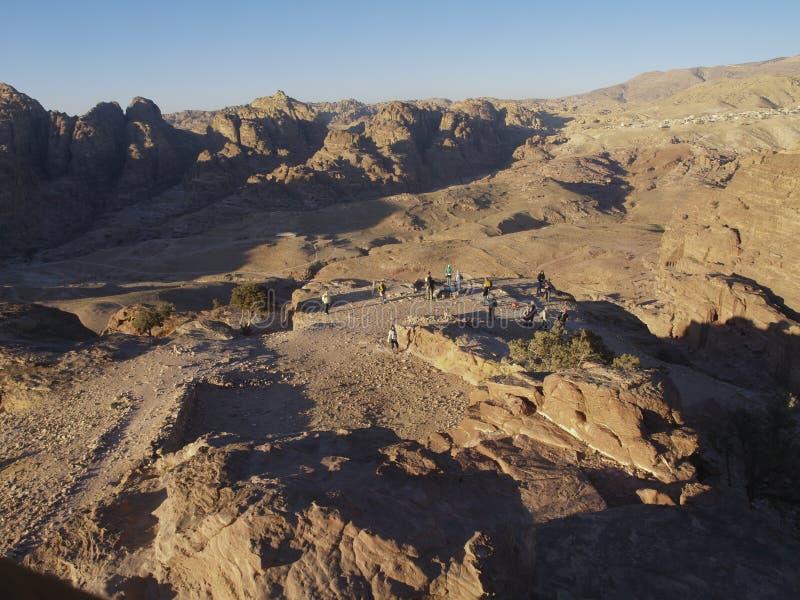 Petra  Raqmu - ιστορικές καταστροφές της αρχαίας, πόλης βράχου του Nabatean Arabians Βρίσκεται στη νοτιοδυτική Ιορδανία Είναι επί στοκ εικόνες με δικαίωμα ελεύθερης χρήσης