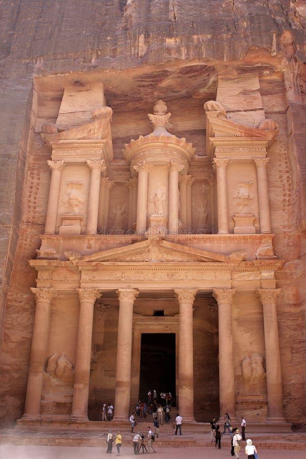 Petra, rotsstad (Jordanië) stock foto's