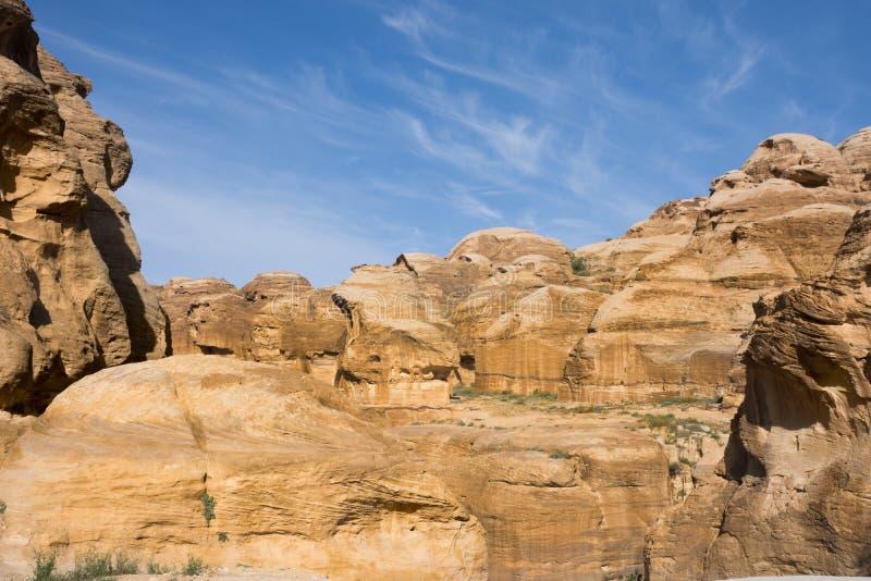 Petra Sandstone Formations arkivbild