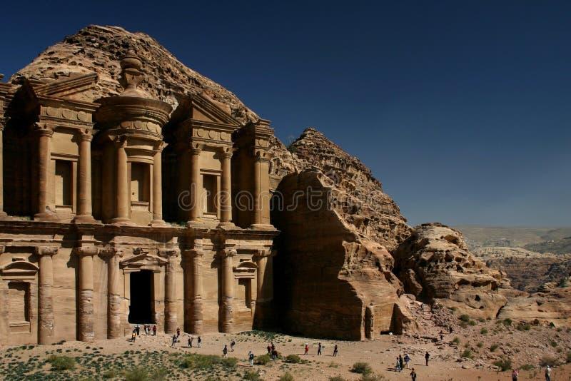 petra-tempel arkivbild