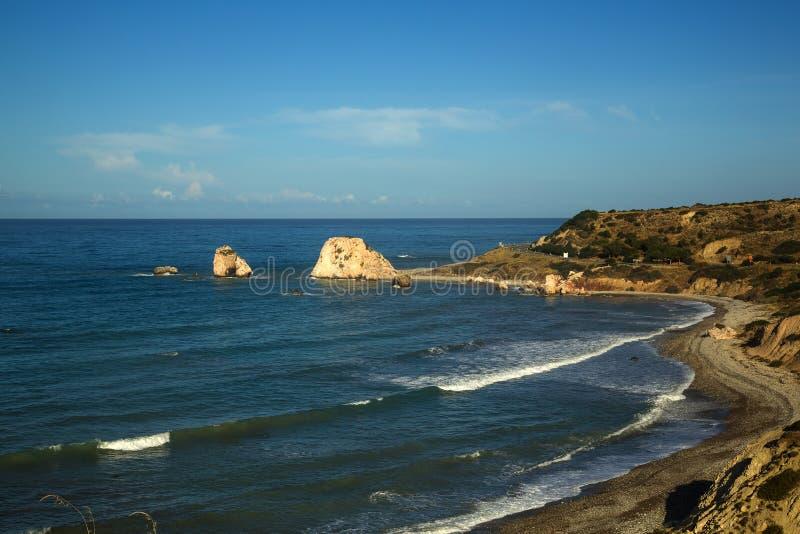 PETRA-tou Romiou. Zypern stockfotos