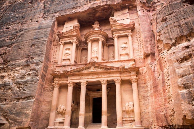 Petra Treasury royaltyfri fotografi