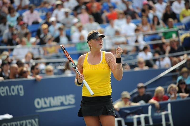 Petra van Kvitova bij de V.S. opent 2009 (10) royalty-vrije stock fotografie