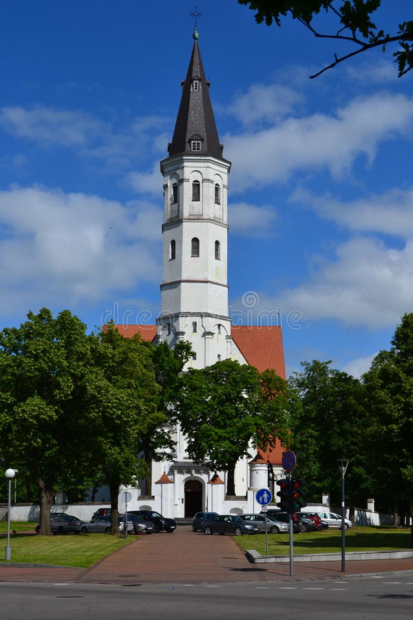 Petras and Povilas Church in Åiauliai royalty free stock photo