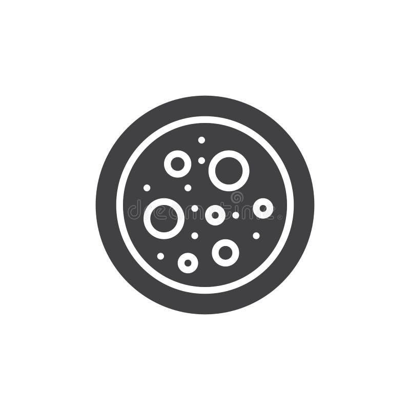 Petri πιάτο με το διανυσματικό εικονίδιο βακτηριδίων ελεύθερη απεικόνιση δικαιώματος