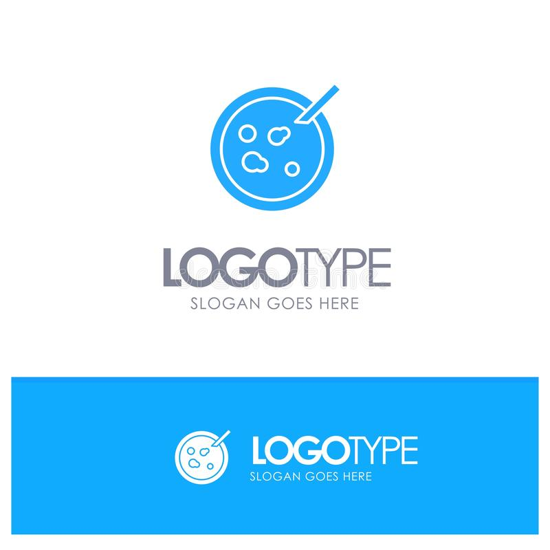 Petri, Teller, Analyse, medizinisches blaues festes Logo mit Platz für Tagline vektor abbildung