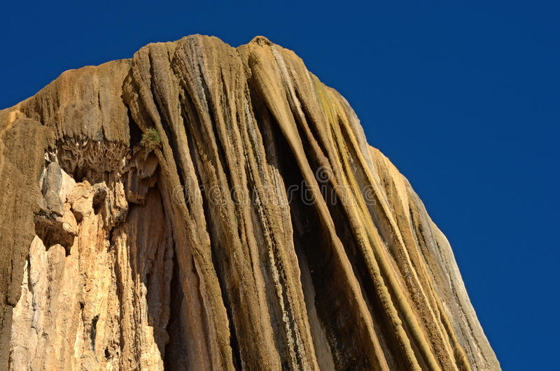 Petrified waterfalls. Hierve El Agua in the Central Valleys of Oaxaca, Mexico royalty free stock image