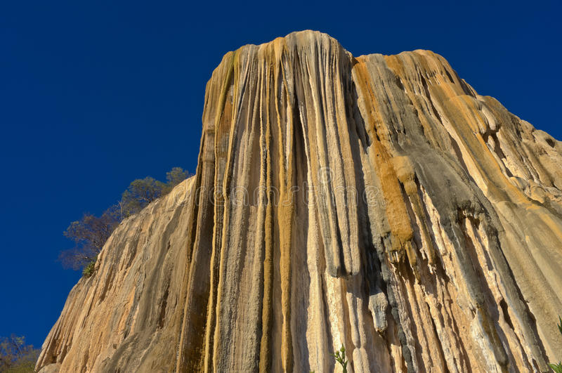 Petrified waterfalls. Hierve El Agua in the Central Valleys of Oaxaca, Mexico royalty free stock photography