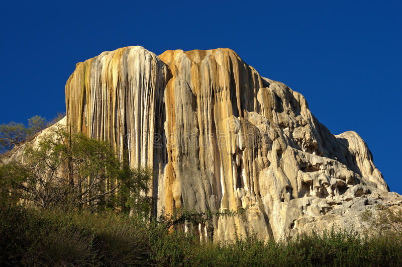 Petrified waterfalls. Hierve El Agua in the Central Valleys of Oaxaca, Mexico royalty free stock photo