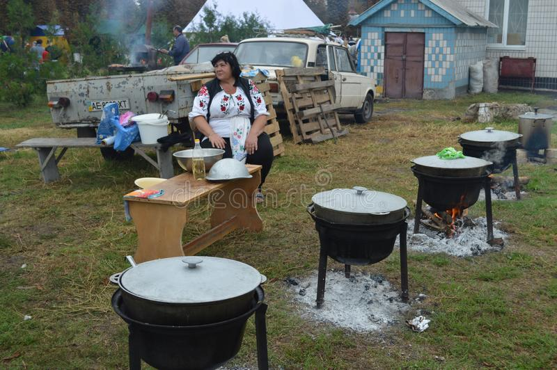 Petrikovka Östlich von Ukraine 15. November 2018 lizenzfreie stockfotos