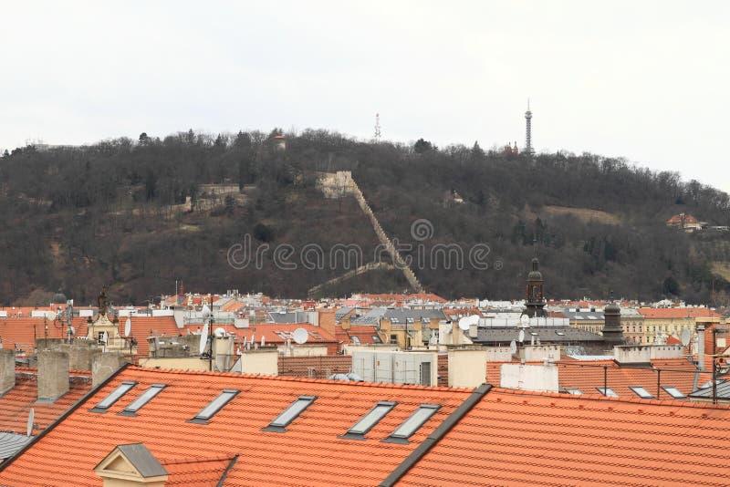 Petrin hill in Prague stock photos