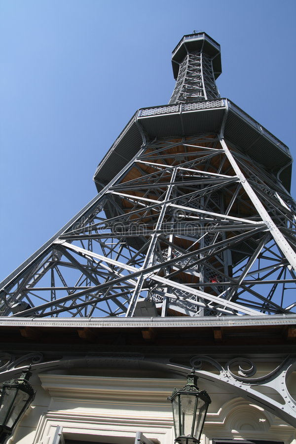 Download Petrin Lookout Tower - Prague Stock Image - Image: 5664985