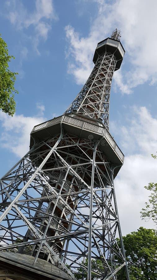 Petrin tower stock photo