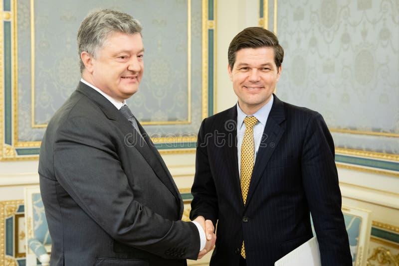 Petro波罗申科和Wess米歇尔 库存照片