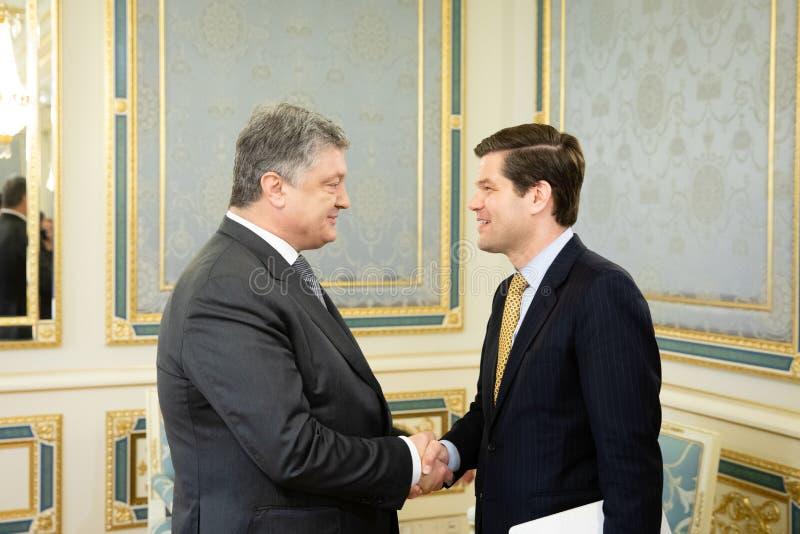 Petro波罗申科和Wess米歇尔 库存图片
