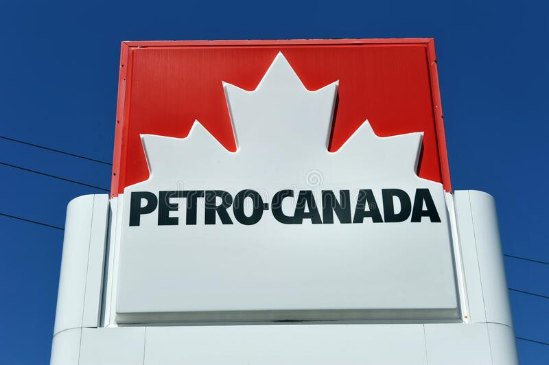 Petro-Canada gas station sign stock photos