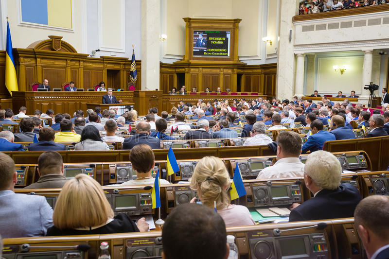 Petro Poroshenko σε Verkhovna Rada της Ουκρανίας στοκ φωτογραφία με δικαίωμα ελεύθερης χρήσης