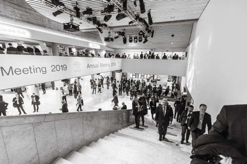 Petro Poroshenko au forum économique mondial dans Davos photo libre de droits