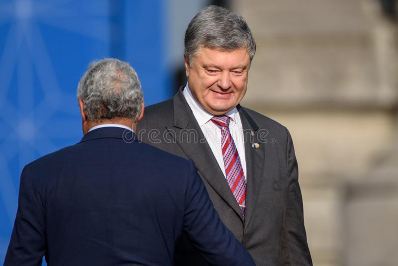 Petro Poroshenko, prezydent Ukraina zdjęcie stock