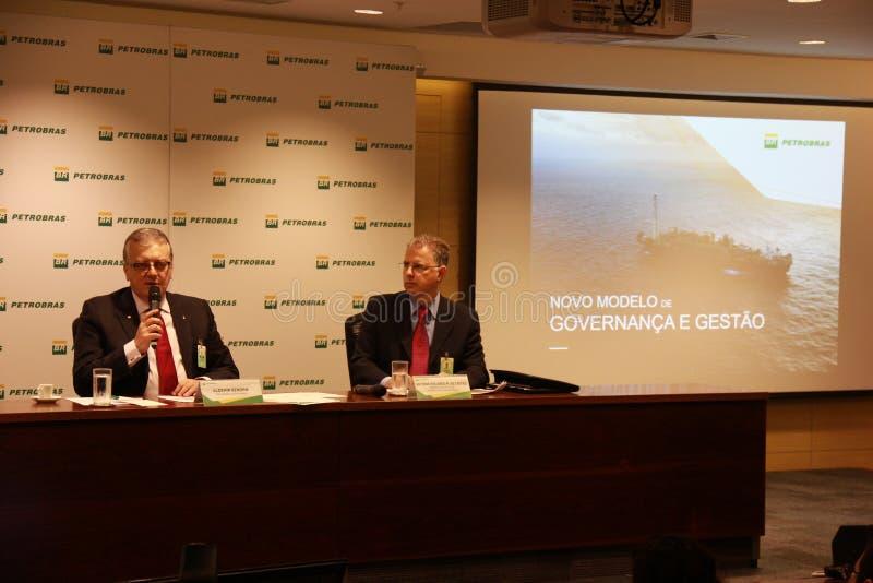 Petrobras anuncia o modelo novo da governança e de gestão fotos de stock