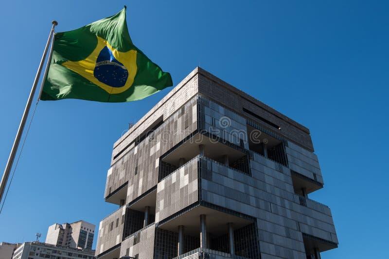 Petrobras Building in Rio de Janeiro. Rio de Janeiro, Brazil - June 13, 2016: Petrobras Headquarters Building in downtown Rio de Janeiro, Brazil. A huge modern stock photos