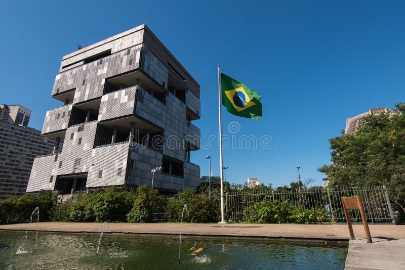 Petrobras Building in Rio de Janeiro. Rio de Janeiro, Brazil - June 13, 2016: Petrobras Headquarters Building in downtown Rio de Janeiro, Brazil. A huge modern stock photo