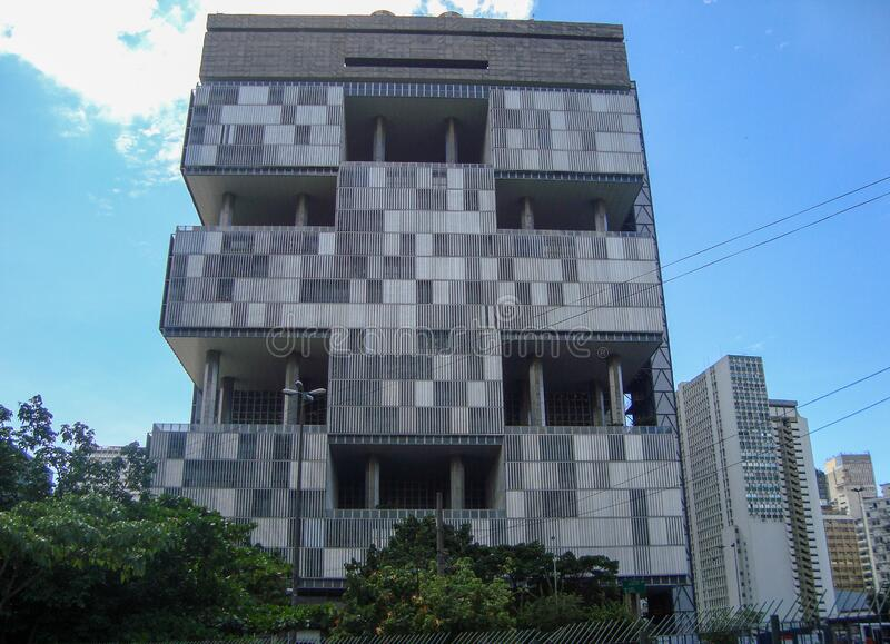 Petrobras-Gebäude in Rio de Janeiro, Brasilien lizenzfreies stockfoto